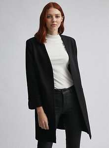 Dorothy Perkins Womens Lily & Franc Black Duster Coat with Long Sleeved £18.69 with Code From Dorothy Perkins /eBay