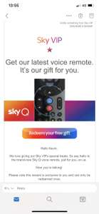 Free Sky Q Voice Remote via Sky VIP