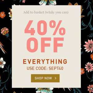 40% Off Full Price, and New Season items with code + £2.95 delivery @ Yumi