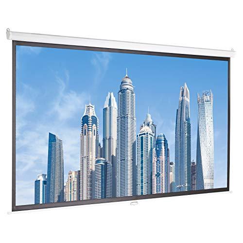 AmazonBasics 100 inch (254 cm) Manual Pull Down Projector Screen 4K / 8K Ultra HDR 3D Ready (16:9) - £62.36 @ Amazon