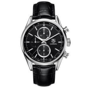 Tag Heuer Carrera 41mm mens chronograph watch £2100 @ Lister Horsfall