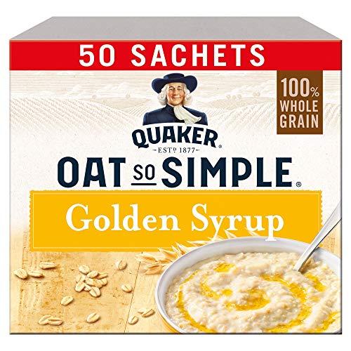 Quaker Oat So Simple Golden Syrup Porridge Sachets, 50 x 36g - £5.56 Prime / £10.05 Non-Prime (£5.28 using S&S) @ Amazon