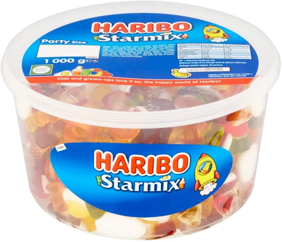 Haribo Starmix 1kg sweets party tub star mix - £4 Prime / £8.49 Non-Prime @ Amazon