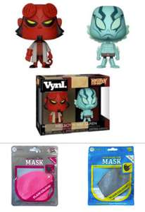 Hellboy Funko Vynl Figures Two Pack Now £6 with code + 1 Adult / 1 Child Face Mask / Slime & Balloon - Delivery is £3.49 @ Poundtoy