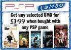 Get any selected UMD for £1.99 when bought with any PSP game