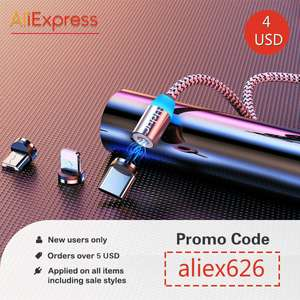 4$ - £3.09 coupon AliExpress - New social Media users.