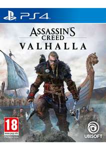 Assassins Creed Valhalla + Pre-Order Bonus and Exclusive Steelbook (PS4-Xbox One) £46.85 @ SimplyGames