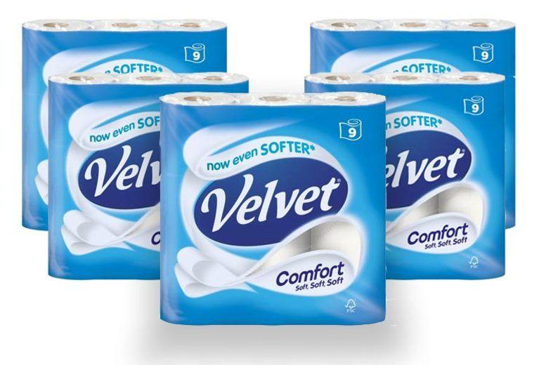 Velvet Comfort 5 x 9 Pack (45 rolls) - £10.78 @ Costco