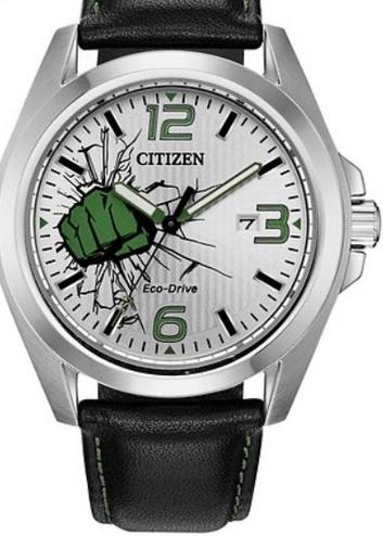 Citizen Marvel Hulk Black Leather Strap Watch - £85 @ H Samuel