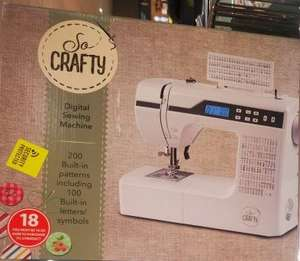 So Crafty Digital Sewing Machine - £149.99 (Online Sunday 20th/In Store Thursday 24th September) Free 3 Year Warranty @ Aldi