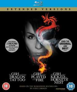 The Girl Who... Millennium Trilogy (Extended Versions) [Blu-ray] £6.99 at Amazon Prime / £9.98 Non Prime