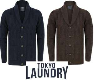 Andromeda & Hatton Cable Knit Cardigan £16 with Code, 5 colour's to choose from + £1.99 Delivery ( Free over £30) From Tokyo Laundry