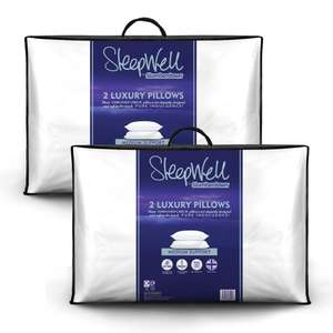 Slumberdown Sleepwell Luxury embossed check pillow two pack BOGOF (four pillows) for £14.99 delivered @ SleepSeeker