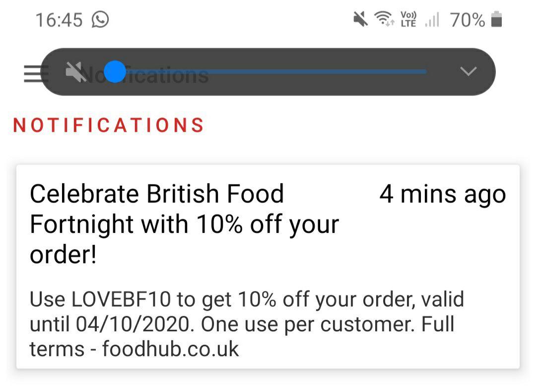 10% off at Foodhub