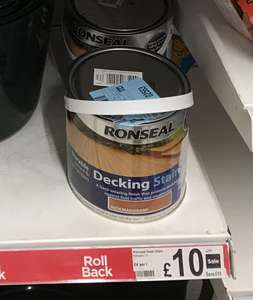 Ronseal Decking Stain - Rich Mahogany 2.5L for £2 Instore @ Asda (Trafford Park, Manchester)