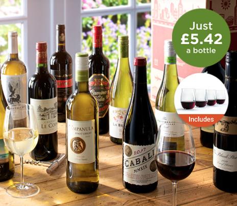 Season's favourites 12 bottles of wine - £65 Total Spend @ Laithwaites