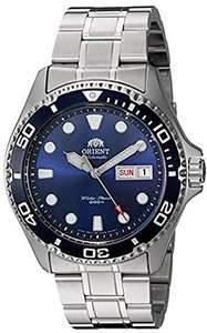Orient Men's Japanese Automatic/Hand-Winding Stainless Steel 200 Meter Diving Watch Marine Blue - £127.38 @ Amazon