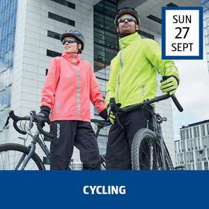 Cycling Event (e.g Cycling Jersey £9.99 / Bib Tights £13.99 / Cycling Jacket £14.99 / Turbo Trainer £44.99 /Lights £2.99) @ Aldi