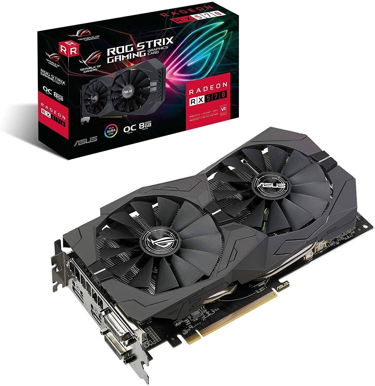 ASUS ROG Strix Radeon RX 570 OC Edition 8 GB GDDR5 AURA Sync RGB Lighting PCI Express 3.0 £129.99 at AWD-IT