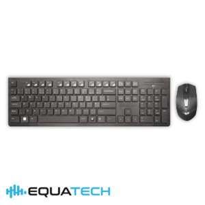 Equatech Wireless Keyboard and Mouse set £13.49 Delv or £9.99 instore at Homebargains