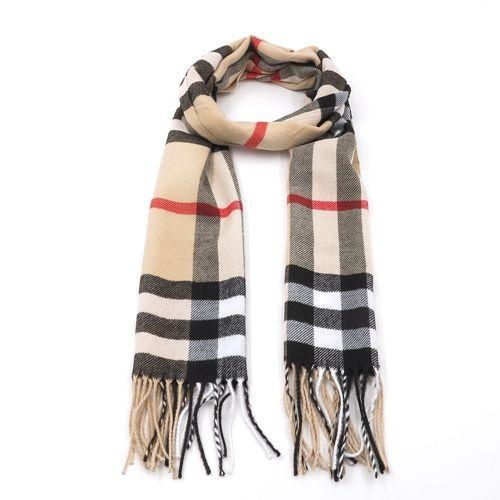Unisex Tartan Scarf - Camel £9.95 + £2.99 del at Harrington Jacket Store