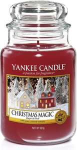 Large Christmas Yankee candle - £12.11 with 10% discount applied at checkout / £17.10 delivered @ Squizzas