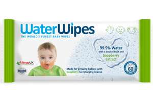 Water wipes with soapberry - £1.29 instore @ Home Bargains, Cardiff