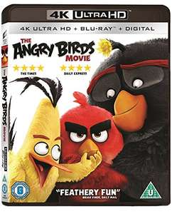 The Angry Birds 4K UHD plus Blu-ray £5.87 (+£4.49n nonPrime) Sold by Delboys-Deals and Fulfilled by Amazon.