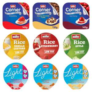 Muller Corner / Light / Rice (Various Flavours) - 10 for £3 @ Morrisons