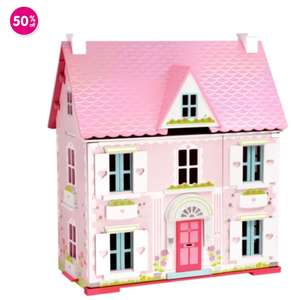 Early Learning Centre Deluxe Rosebud Dolls House with Furniture £64.99 at ELC