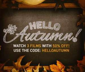 Hello Autumn - Rent/Buy 3 Films with 50% Off w/ code @ Chili