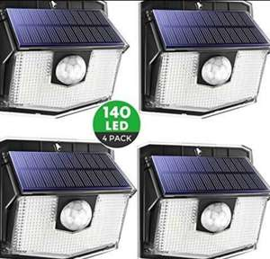 140 LED Mpow Motion Sensor Solar Wall outdoor Lights - £25.49 delivered Sold by Litjoy and Fulfilled by Amazon
