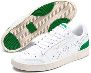 Mens' Puma Ralph Sampson Lo Perforated soft trainers, white / green colourway £35.41 delivered @ Puma