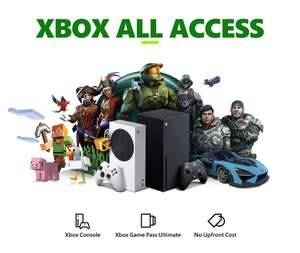 Xbox All Access (Console + Game Pass Ultimate) - £20.99 (Series S) / £28.99 (Series X) per month (24m contract credit agreement) Smyths Toys