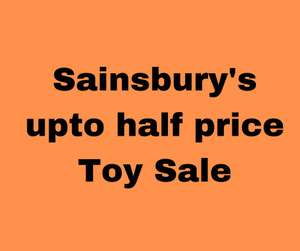 Sainsbury's Toy Stunt / Sale - 14th - 20th October 2020