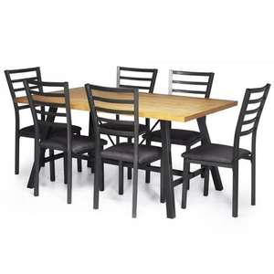 Stockholm Dining Table and 6 Chairs - £174.99 Delivered @ JTF
