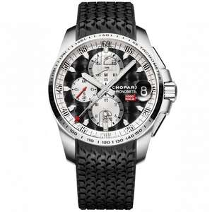 Chopard Mille Miglia GT XL Chronograph Steel Black Dial Men's Strap Watch £4,465 from Berrys