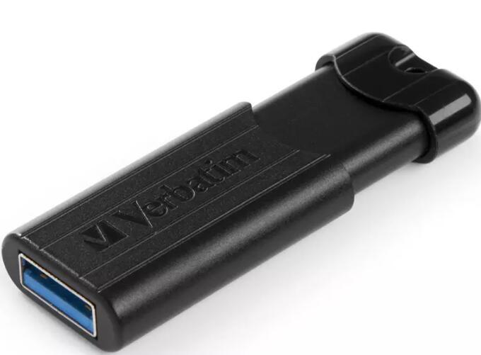 Verbatim 128GB PinStripe Store'n'Go USB 3.0 Flash Drive + 2 Year Warranty - Black - £9.99 Delivered @ MyMemory