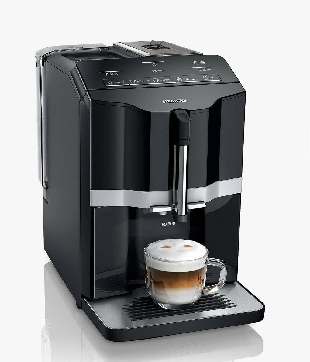 Siemens EQ3 Espresso Coffee Machine now £349.99 (£299.99 after cashback) at John Lewis & Partners