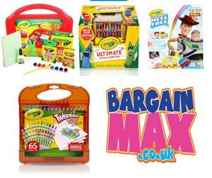 Extra 10% All Crayola Colouring Sets, prices from £6.29 with Code + Free Delivery From Bargain Max