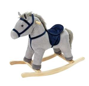 Chad Valley Grey and Blue Cord Rocking Horse £24 Argos