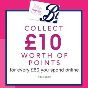 Get £10 in Advantage points on Every £60 spend Online @ Boots