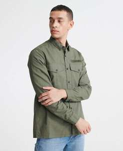 Superdry Mens Field Edition long sleeve shirt in khaki green (various sizes) for £24 delivered using code @ eBay / Superdry