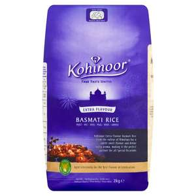 Kohinoor extra flavour basmati rice 2kg - £1.52 instore @ Sainsbury's, Durham