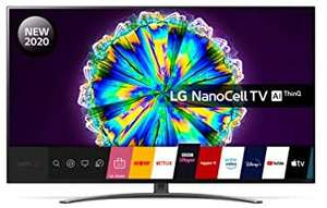 LG 65NANO866NA (2020) LED HDR NanoCell 4K Ultra HD Smart TV, 65 inch with Freeview HD/Freesat HD, Dolby Atmos & Crescent Stand £899 @ AO