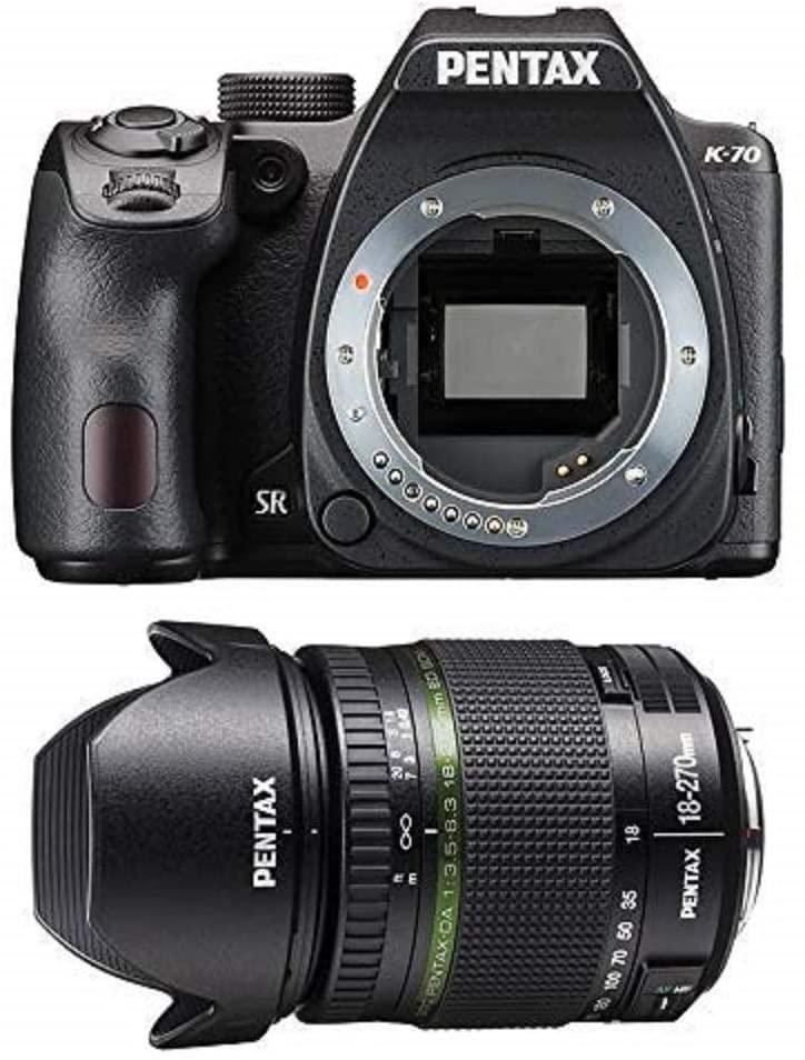 Pentax 1624201 K-70 DSLR 18-270 mm Lens, Black £630.18 at Amazon