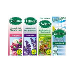 Free Bottle (120ml) of Zoflora Disinfectant - emailed voucher from Mail on Sunday (£1.80)