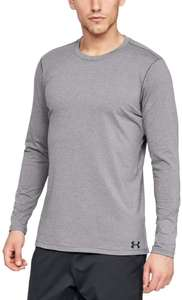 Under Armour Men's Fitted ColdGear Crew Warm Long Sleeve Top - Grey - XXL - £16.72 Prime (+£4.49 non Prime) - Amazon