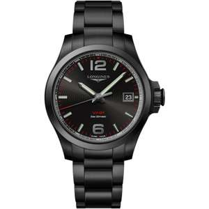 Longines Men's Conquest VHP Black PVD Quartz Watch | 41mm £817 at Francis & Gaye