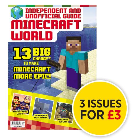 Minecraft World Magazine 3 issues for £3